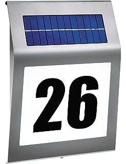 Brennenstuhl Beleuchtete Hausnummer Solar Power SH 4000 4 LED Edelstahl