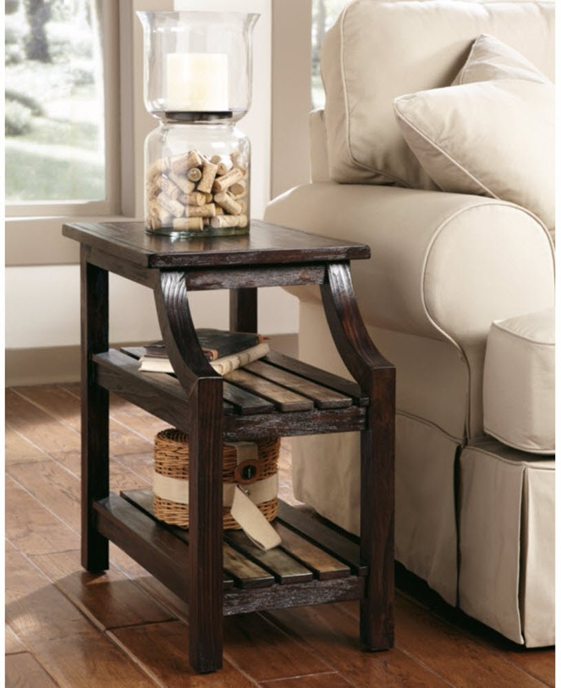 Ashley Furniture Signature Design - Mestler Chair Side End Table - Rectangular - Rustic Brown