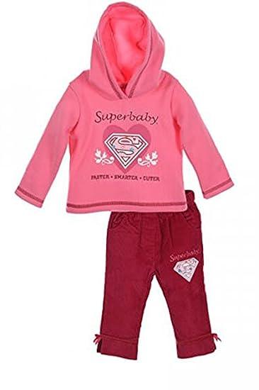 DC Universe Superbaby Mädchen Jogginganzug Hausanzug Freizeitanzug