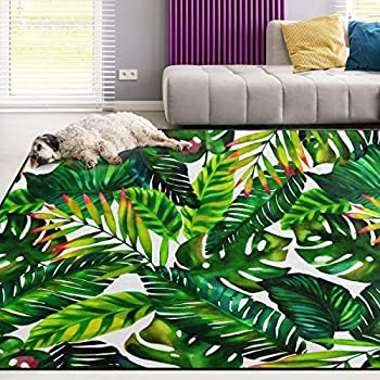 Amazon Com Alaza Tropical Palm Tree Leaves Watercolor