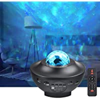 LED Projector Lights - COSANSYS Ocean Wave Star Sky Night Light with Music Speaker,Sound Sensor, Remote Control,360…