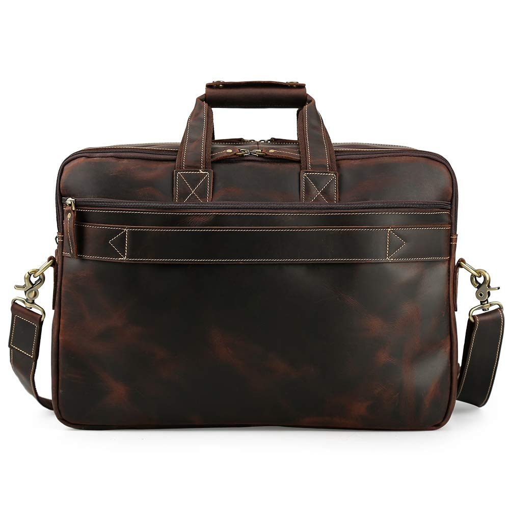 c66f4c041da Men's Vintage Leather Messenger Satchel Casual Multi-Purpose School Case  Tablet Travel Weekender Business 17 Inch Laptop Computer Handmade Briefcase  ...