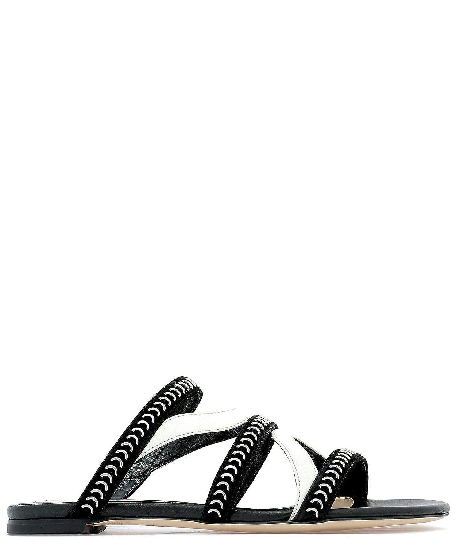 - Alexander McQueen Women's 559911WHV621090 Black Leather Sandals