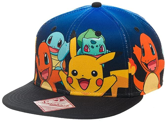 Image Unavailable. Image not available for. Colour  Official Pokemon  Character Group Gradient Snapback Cap Hat - One Size Pikachu 485ba5f253d8