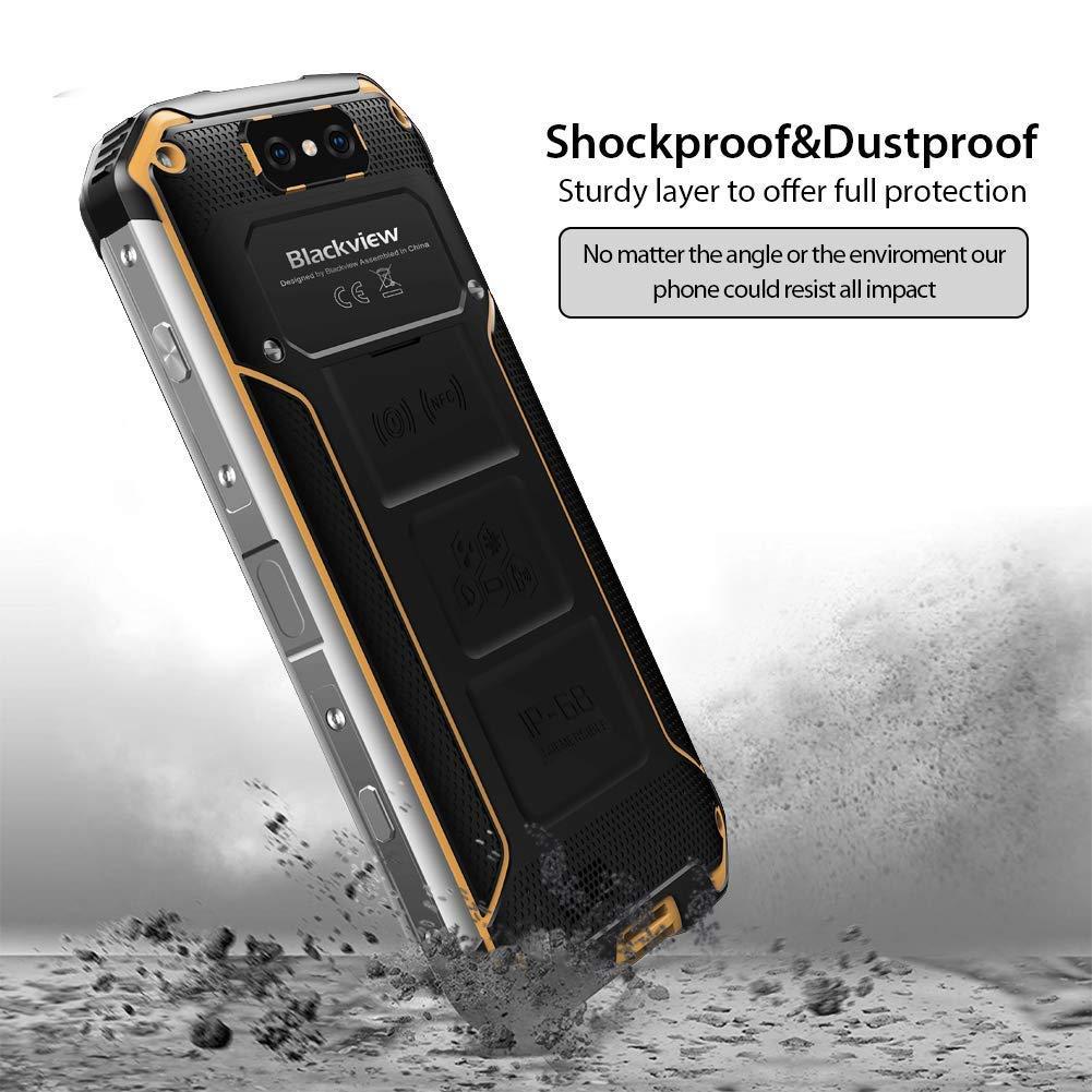 Blackview BV9500 Movil Todoterreno Antigolpes Smartphone 4G Impermeable IP68 a Prueba de Golpes Android 8.1 Desbloqueado Batería 10000mAh 12V/2A 4GB ...