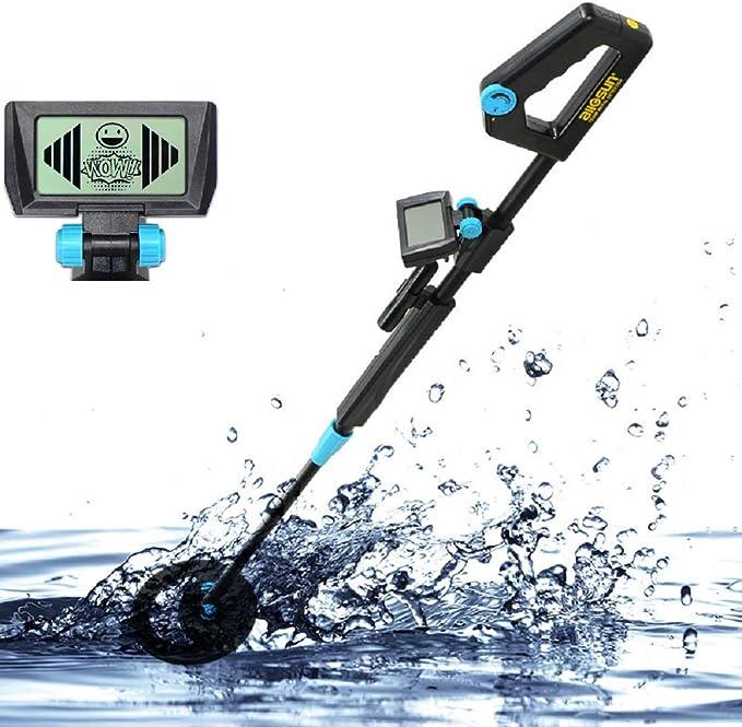ALLOSUN - Detector de Metales para niños, Pantalla LCD Treasure Hunter, Resistente al Agua: Amazon.es: Jardín