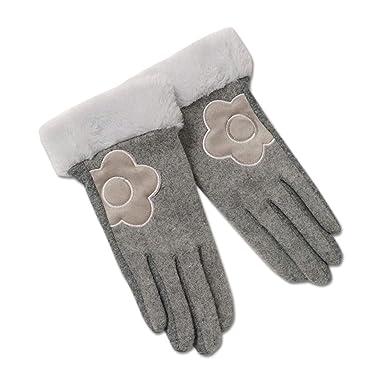 b1671bf94af1a6 (マリークワント) MARY QUANT ウールビーバーデイジー 手袋 ファッション デイジー 花 花柄 フラワー