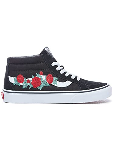 Sk8 Eu 37 Thorns Noir Mid Vans Chaussures Rose Reissue Sneakers BwSf1
