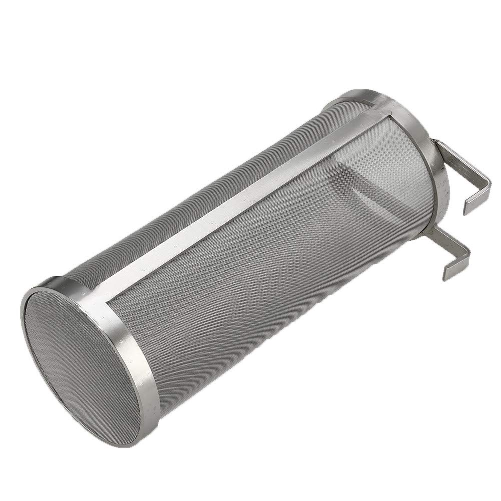 Voraca 304 Stainless Steel Strainer Home Brew Beer Pellet Hop Filter (4 x 10 inch) 400 Micron Filtering