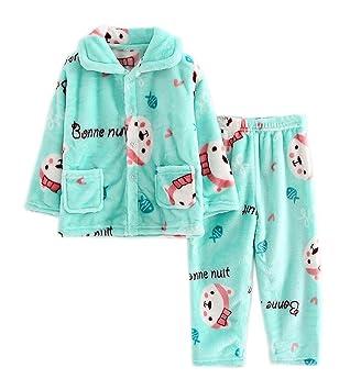 723a1c77bd897 Pyjama Enfant en flanelle Ensemble d oreiller en peluche d ours vert ...