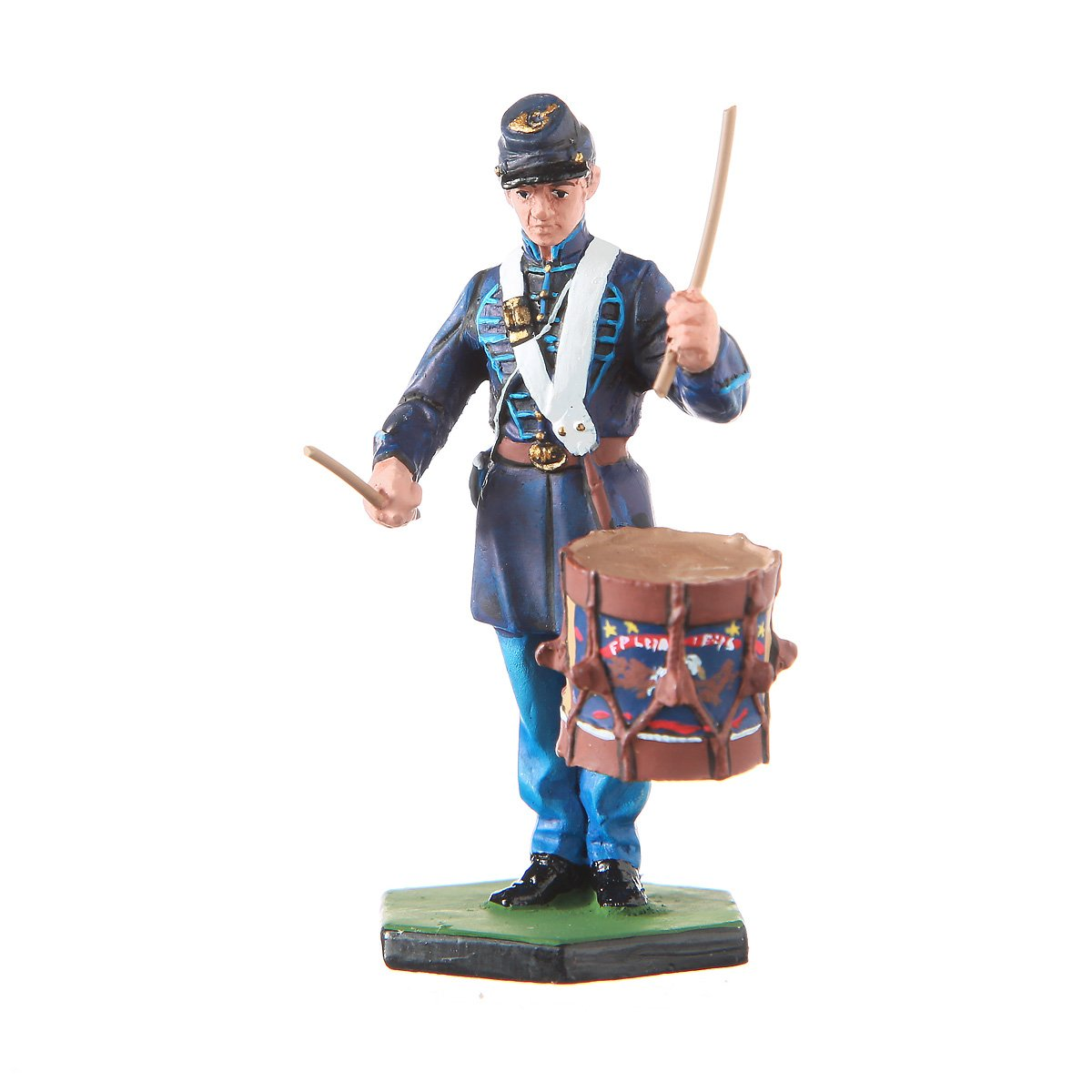 danila-souvenirs Tin Toy Soldier USA Civil war Northerners Drummer Hand Painted Metal Sculpture Miniature Figurine 54mm #CW05