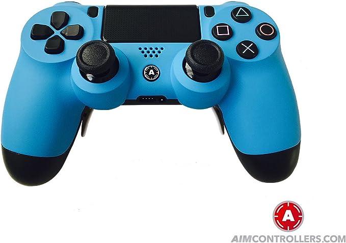 PS4 DualShock 4 PlayStation 4 Wireless Controller - Custom AiMControllers Blue Matt Design: Amazon.es: Videojuegos