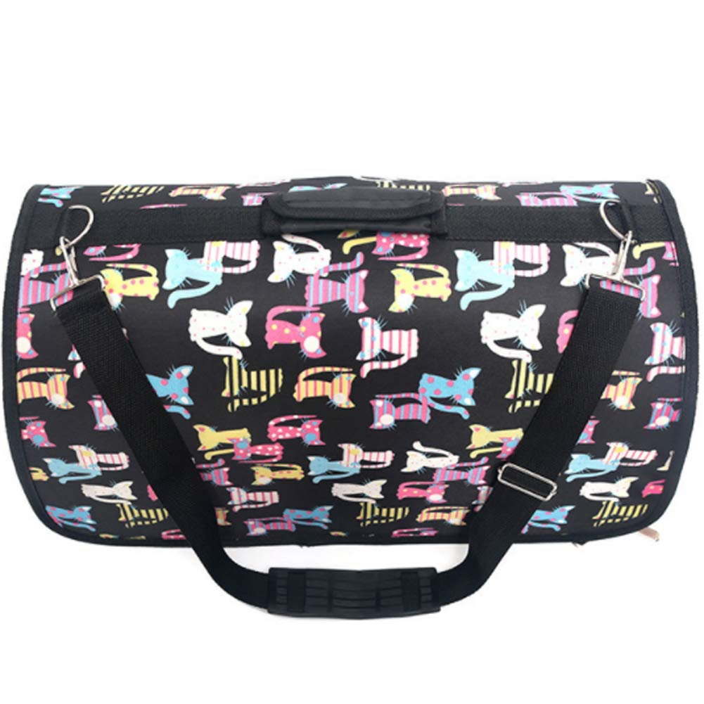 Large Pet Carrier Tote Portable Puppy Dog Cat Handbag with Breathable Folding for Small Dogs and Cats