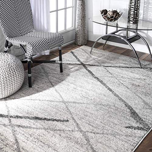 nuLOOM Contemporary Thigpen Large Area Rug, 12' x 15', Grey ()