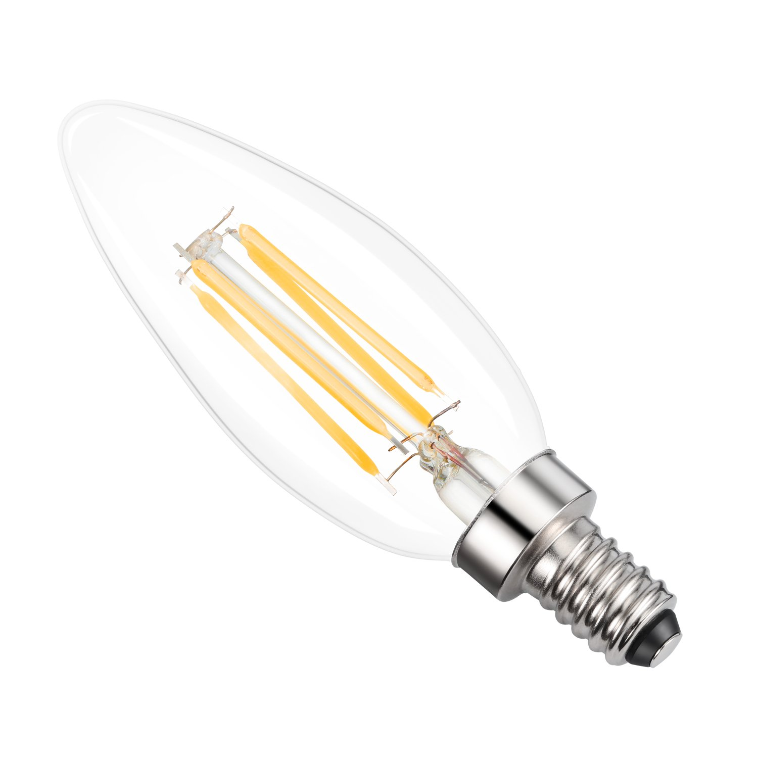 UL Listed Non-Dimmable 2700K Warm White Kohree E12 Edison Bulb LED Candelabra Bulb Chandelier Bulb C35 Candle Light Bulb 40W Equivalent Pack of 12