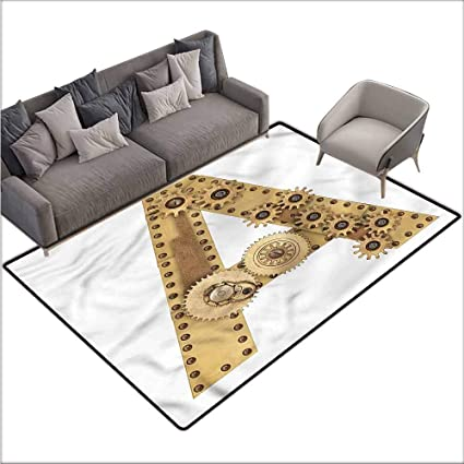 Amazon.com: Long Kitchen Mat Bath Carpet Letter A, Steampunk ...
