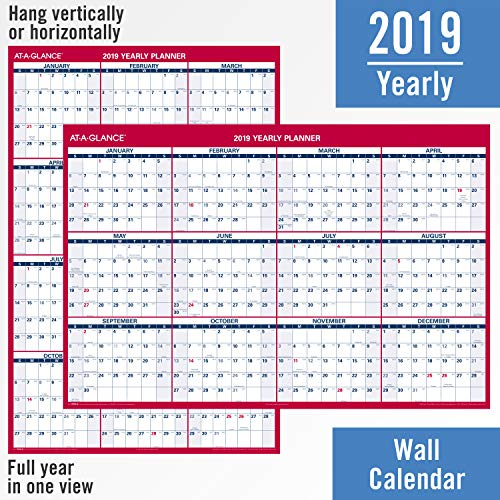at a glance 2019 wall calendar 48 x 32 jumbo