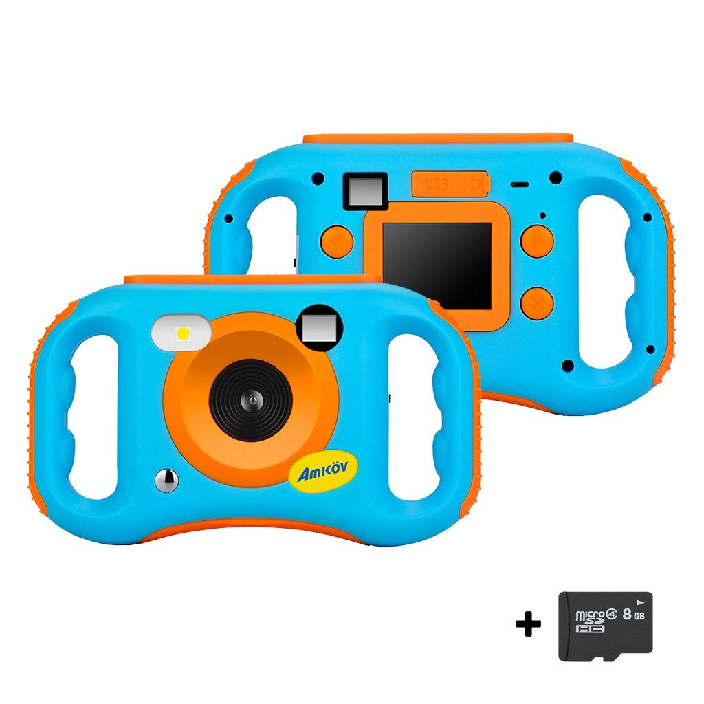 Digital Camera for Kids WiFi - Rechargeable 1.77 Inch 5MP LCD 1080P HD Digital Video Camera with 8GB SD Card - Anti-Drop - Creative Birthday Gifts for Kids (Blue, Expedited delivery) by Dacawin-Kids Toys