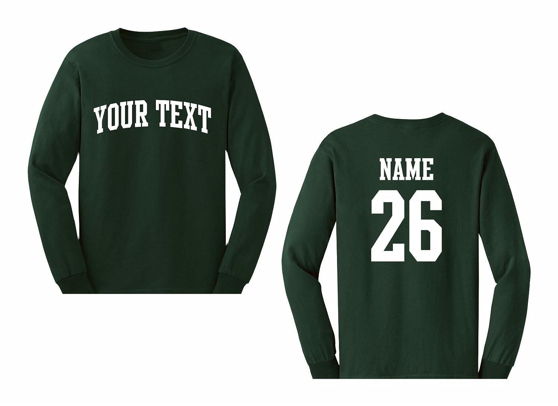 Amazon Mens Custom Personalized Long Sleeve T Shirt Front