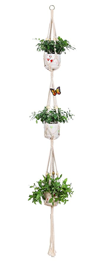 Amazon Com Aozita Macrame Plant Hanger For Hanging Planter Baskets
