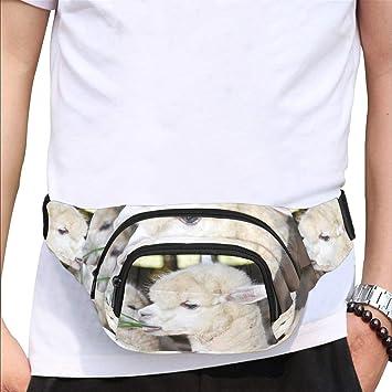 Cute Llama Sport Waist Bag Fanny Pack Adjustable For Run