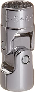 product image for SK Hand Tool 43610 12 Point 1/4-Inch Drive Flex Socket, 5/16-Inch, Chrome