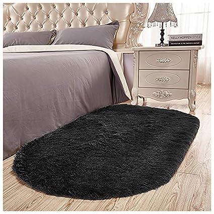 Amazon.com: Junovo Ultra Soft Modern Fluffy Area Rug Living Room Bedroom Kids  Room Nursery,2.6u0027 X 5.3u0027,Black: Home U0026 Kitchen