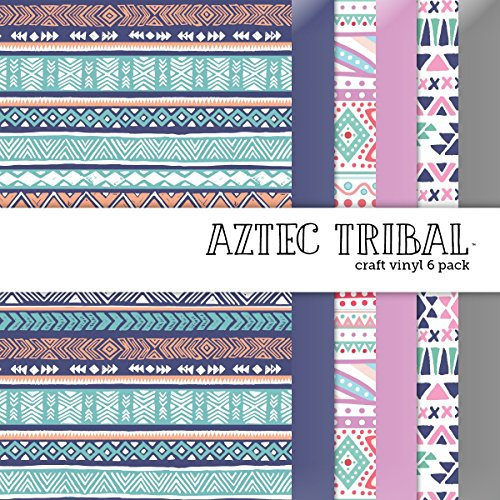 Aztec Tribal Vinyl Multi-Pack, 6 Sheets - 12