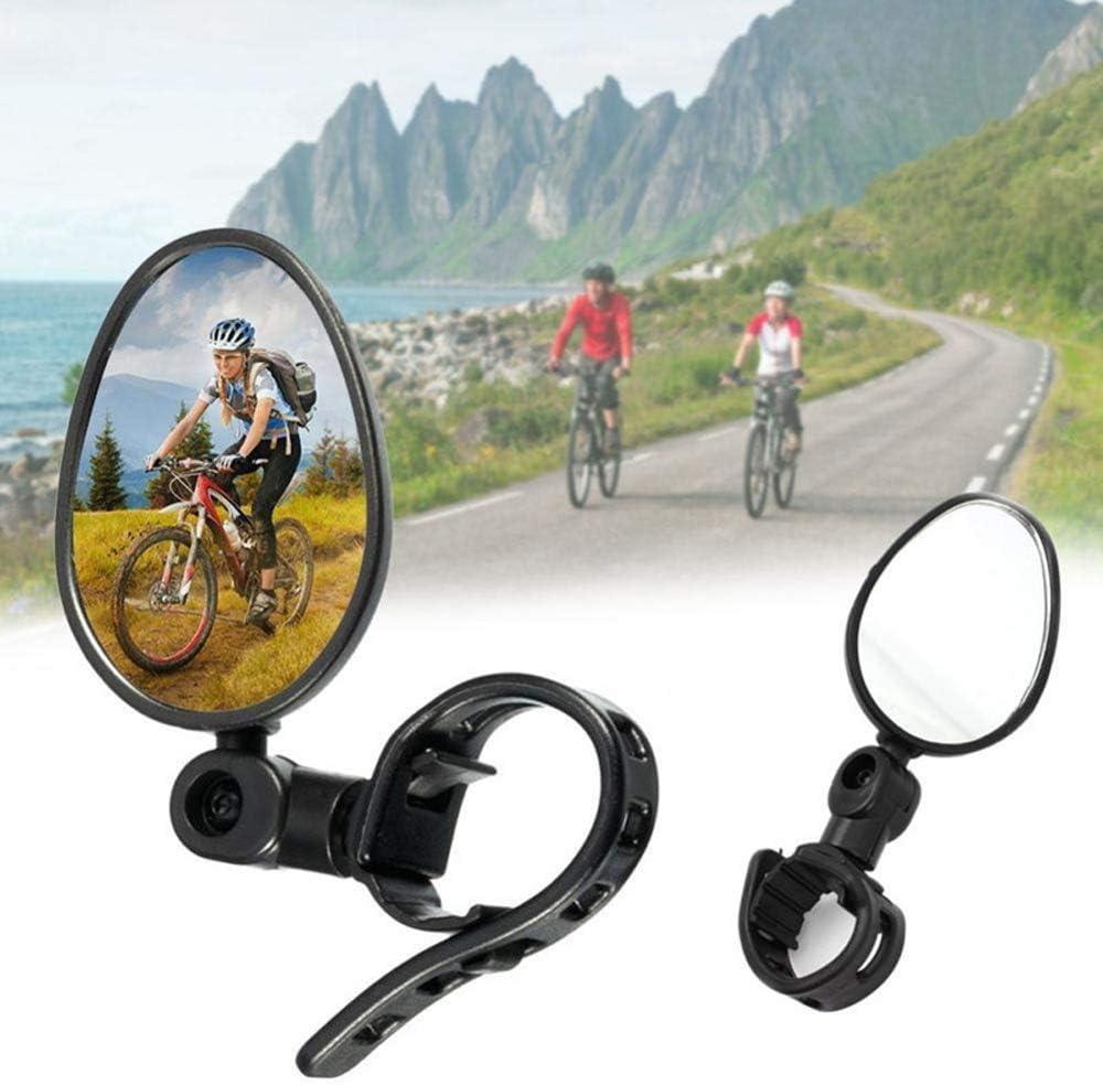 CHUER Espejo Retrovisor de Bicicleta, Espejo Retrovisor de Bicicleta Manillar Ciclismo Ajustable con Rotación de 360 ° Espejos Retrovisores de Seguridad Flexibles Accesorios para Bicicletas - 1 Par: Amazon.es: Deportes y aire libre
