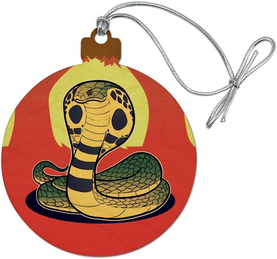 Graphics More Cobra Snake Wood Christmas Tree Holiday Ornament Home Kitchen Amazon Com