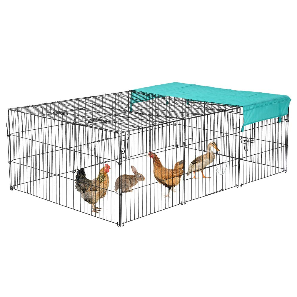 BestPet 72'' x 48'' Pet Playpen w/Door & Cover Rabbit Enclosure