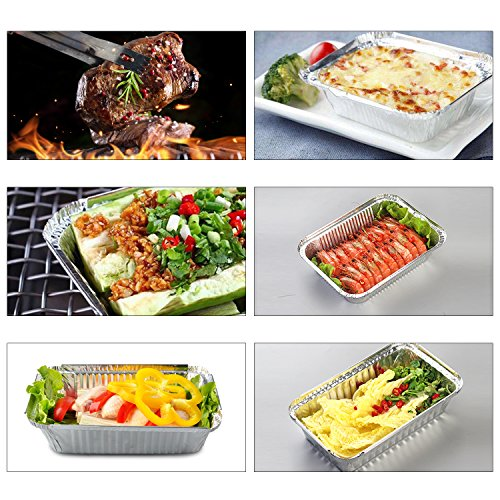 Disposable Aluminum Foil Pans,Fohuas 9'' x 13'' Half Size Deep Steam Table Pans Freezer & Oven Safe Food Containers for Baking, Cooking, Roasting & Reheating (24 Pack) by fohuas (Image #5)