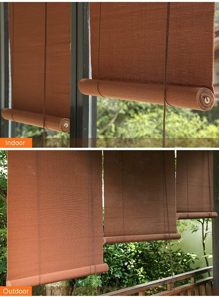 LXLA - Cortinas de bambú Resistentes al Viento para Exteriores con Tirador Lateral y Accesorios, Sombra para Porche Delantero/pérgola/cenador: Amazon.es: Hogar