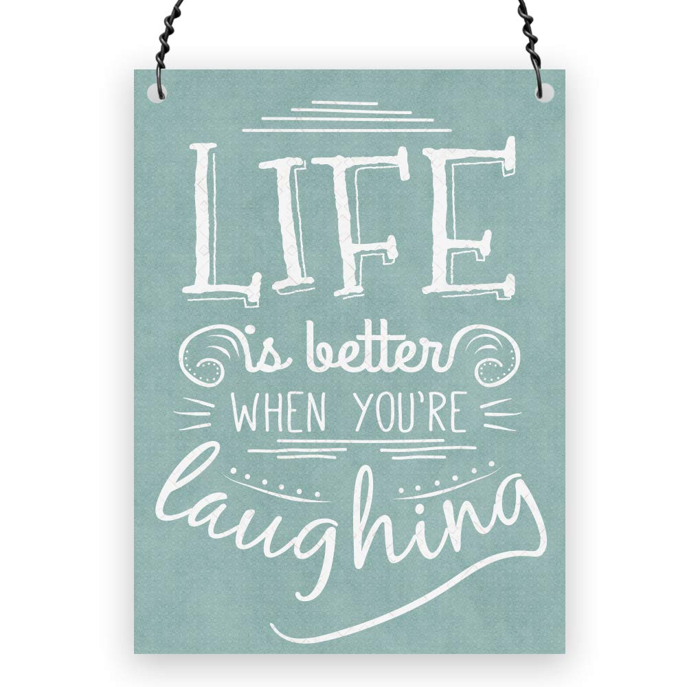 Dorothy Spring Life Is Better When You're Laughing Cute Quote Wall Metal Small Plaque Sign Size 4x3 inch