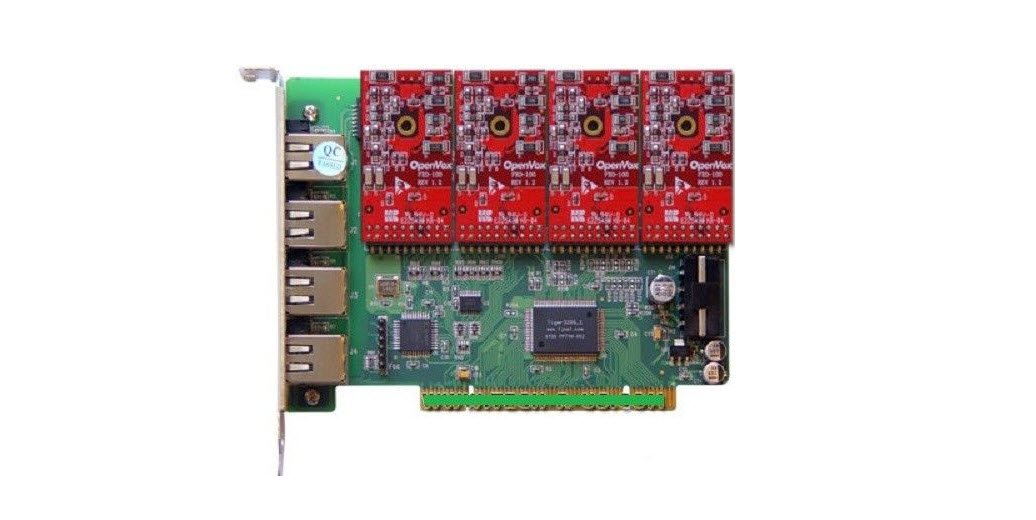 OpenVox A400P04 4 Port Analog PCI Base Card with 4 FXO by OpenVox