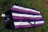 Challenger Horsewear 78'' Horse Sheet Polar Fleece Cooler Exercise Blanket Wicks Moisture Purple 4355