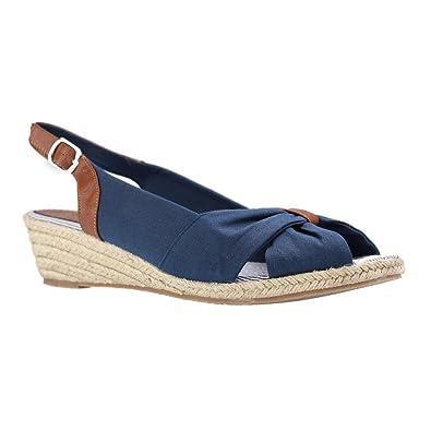 878302bded93 Mustang - Damen Sandaletten - Blau Schuhe in Übergrößen, Größe 45 ...