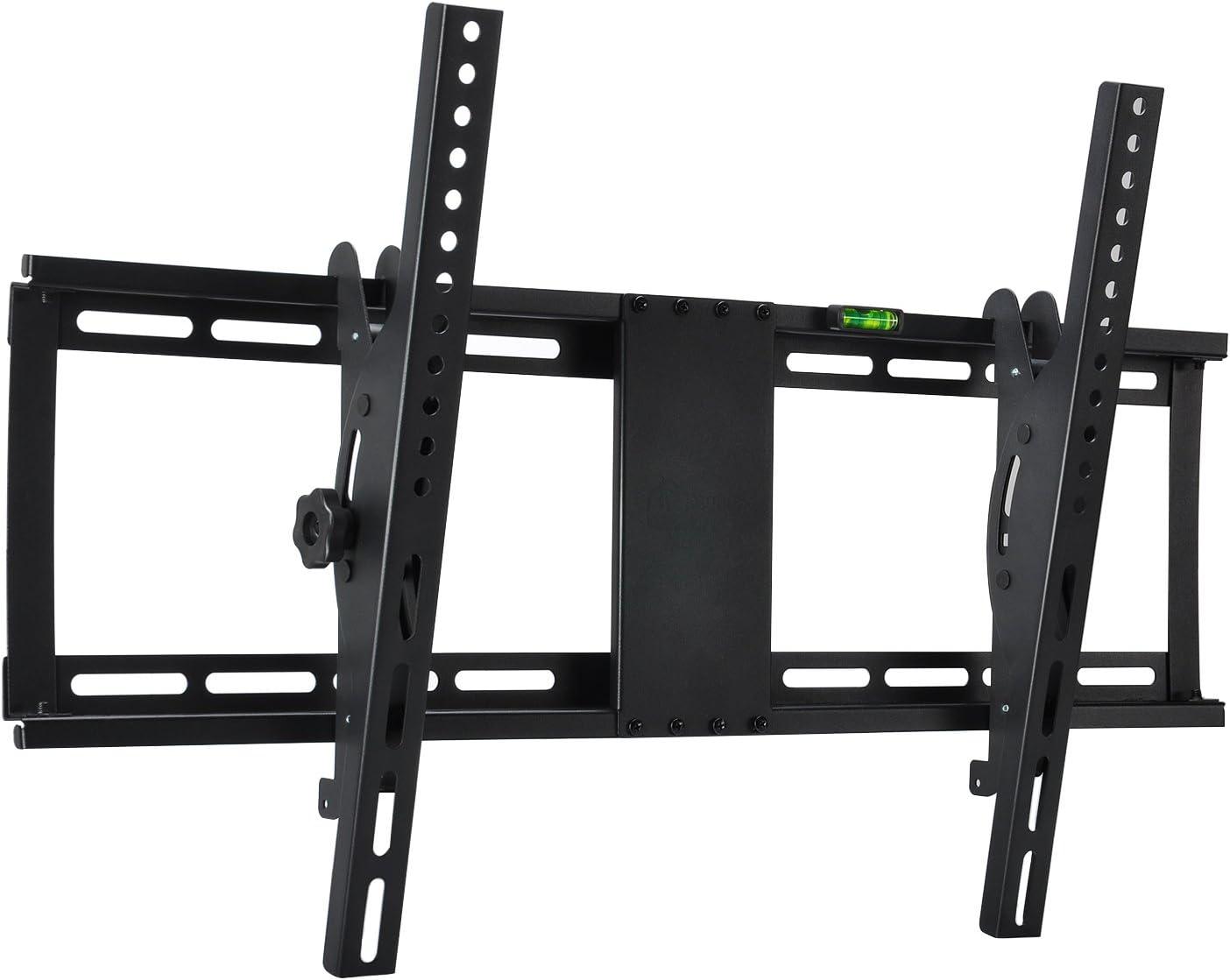 Max VESA 400x400mm Livella a Bolla Inclusa per TV a Schermo Piatto Carico 95kg 81-140cm Staffa TV Supporto da Parete Inclinabile Famgizmo Supporto TV per 32-55 pollici LCD LED Plasma 4K 3D