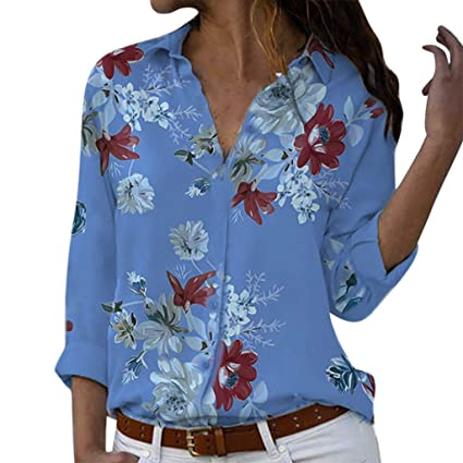 SMILEQ Blusa para Mujer Talla Grande Camiseta Holgada con ...