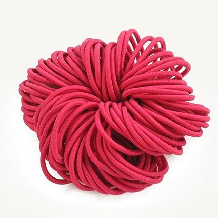 ShungFun - Lazos gruesos de algodón sin costuras para el pelo, sin ...