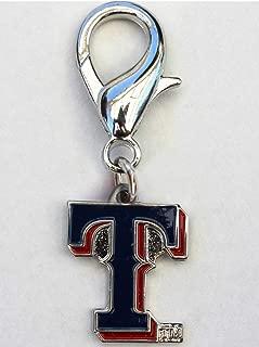 product image for Diva-Dog MLB Baseball 'Texas Rangers' Licensed Team Dog Collar Charm