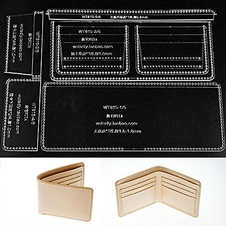 fujiyuan 1 Set Acrílico plantilla de piel patrón de costura ...
