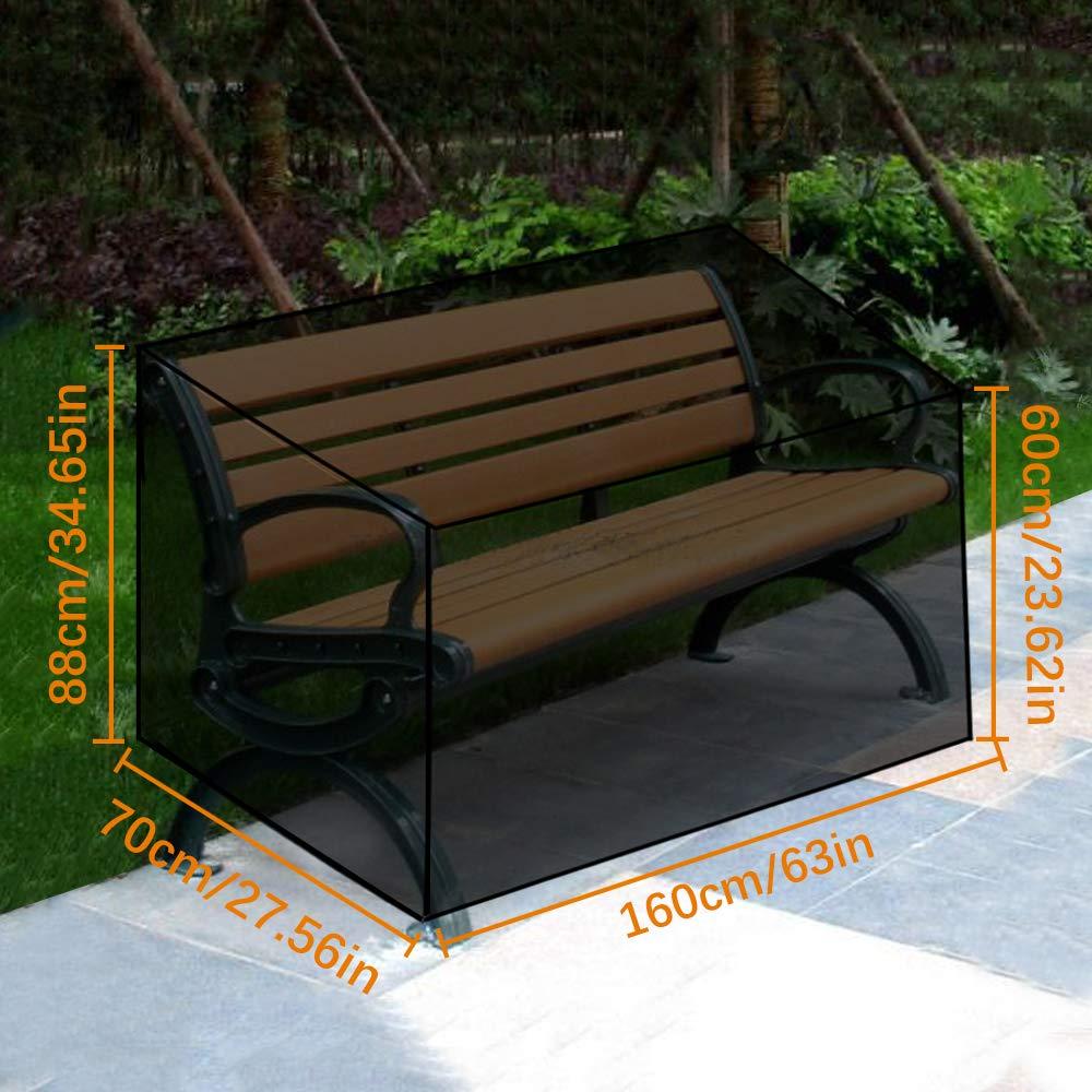 Awnic Copri Panca a 3 posti Copertura per Panca da Giardino Resistente allo Strappo Impermeabile 210D Oxford