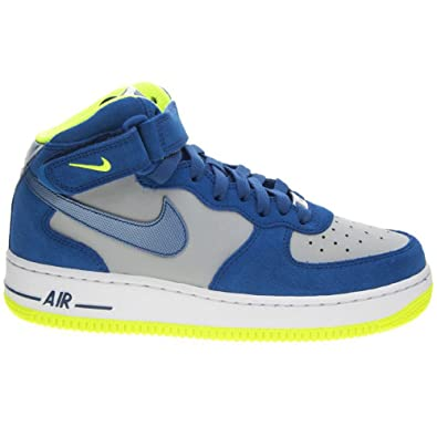 Nike Air Force 1 Mid Grey Blue Youths Trainers Size 39 EU