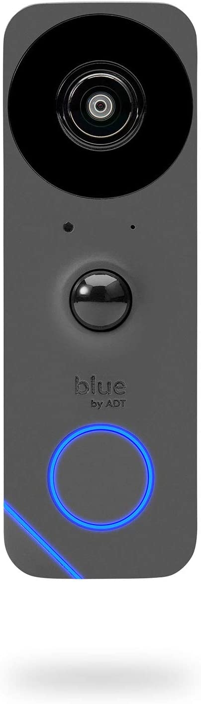 Blue by ADT Doorbell Camera – HD Video Doorbell – 2-Way Talk – Night Vision – Facial Recognition – DIY Smart Home Security – No Contract – Alexa Compatible