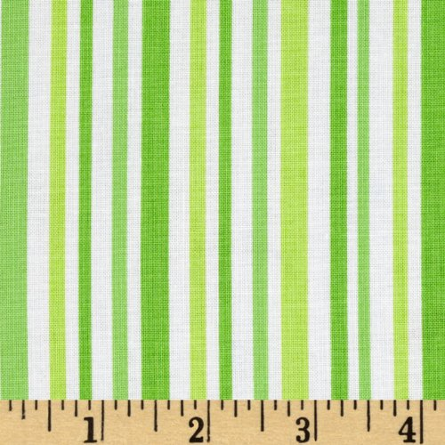Moda Ticklish Laughing Stripes Giggle Green Fabric By The -