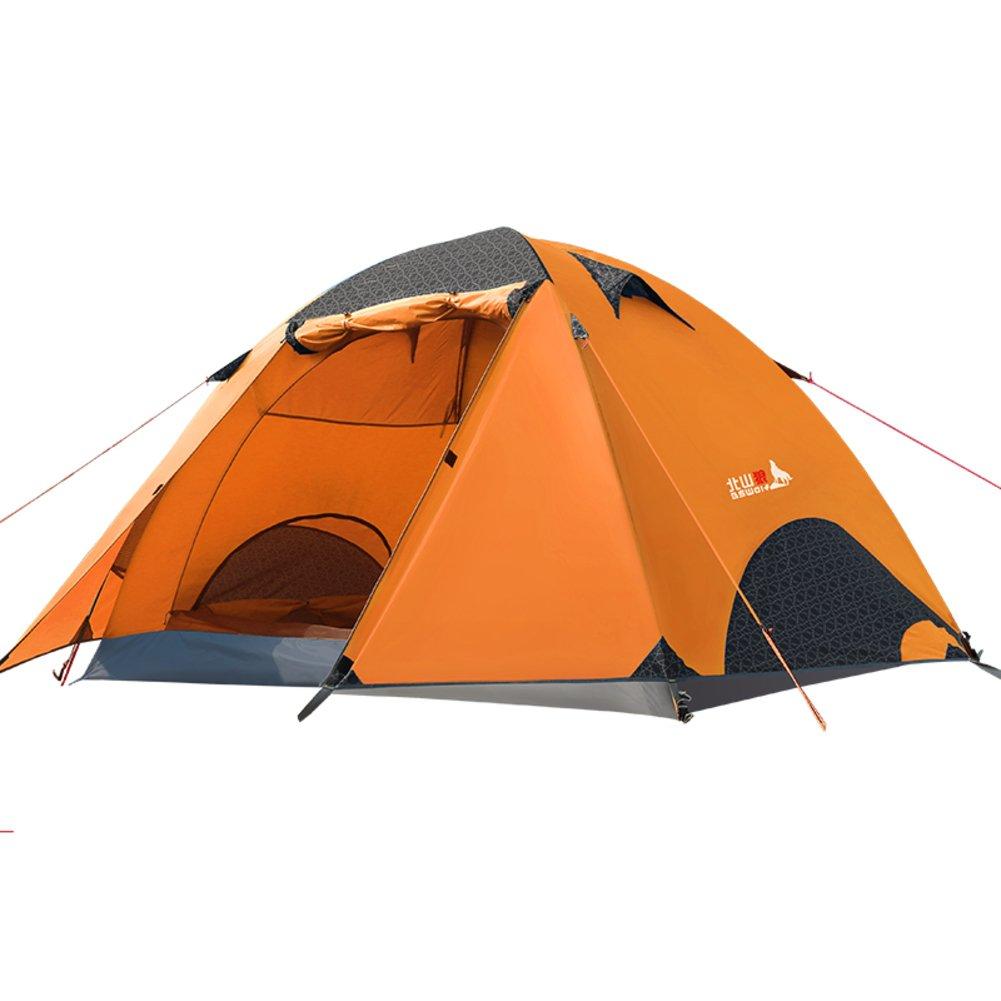 DXG&FX im Freien3-4 Personen-Zelt doppelte Ferienlager Sturmsichere Zelt im Feld