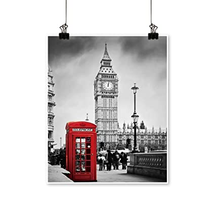 Amazon com: Canvas Painting Red Telephone Booth and Big Ben
