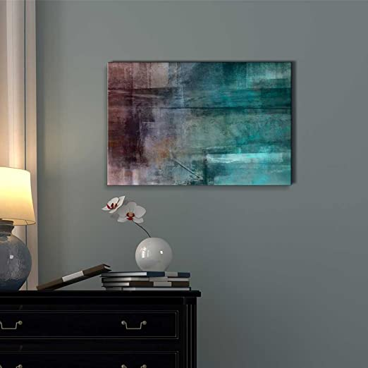 Wall26 - Shades of Blue and Gray Abstract Painting - Canvas Art Home Decor - 24x36 inches