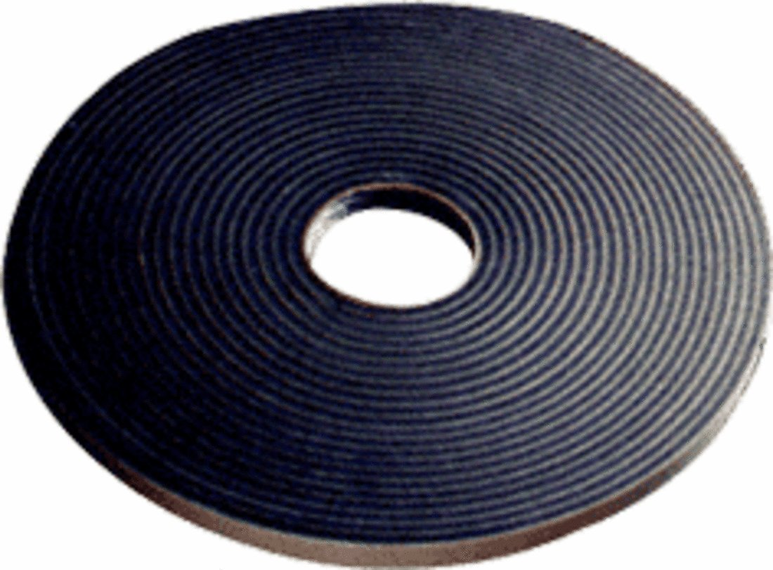 Black 1/8'' x 1/2'' Double Sided Foam Glazing Tape